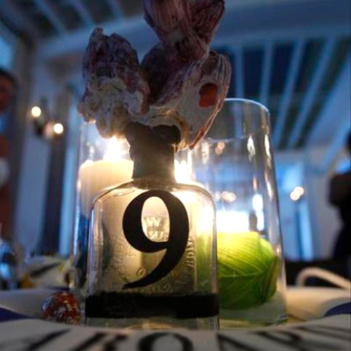 Nautical table number 9 center piece