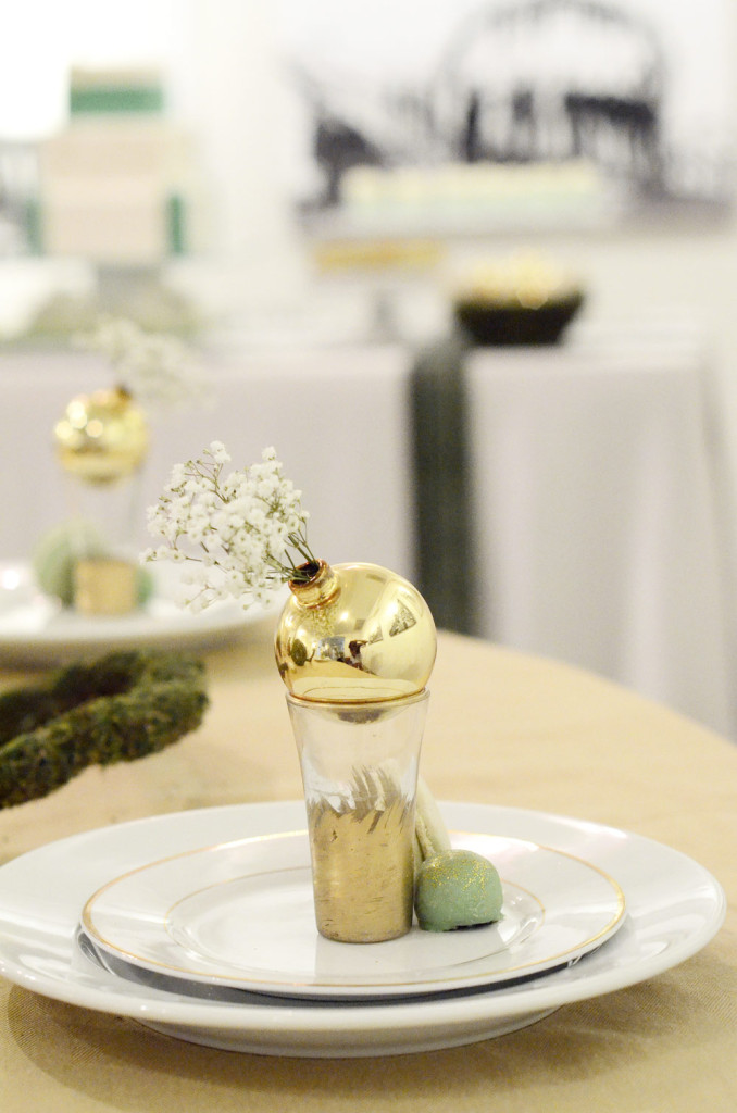 Gold and Green Dinner Party, Ccuriosity.com