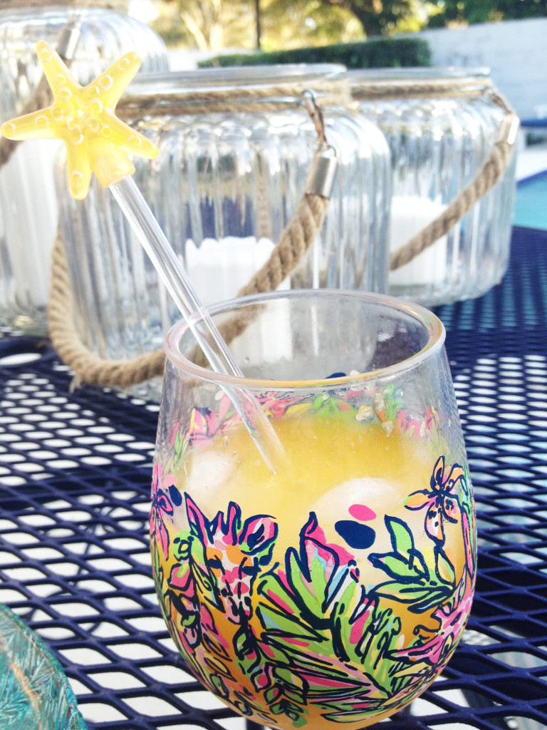 cold drink, lilly pulitzer, tableware, lilly, lilly spring, lilly summer, ccuriosity.com