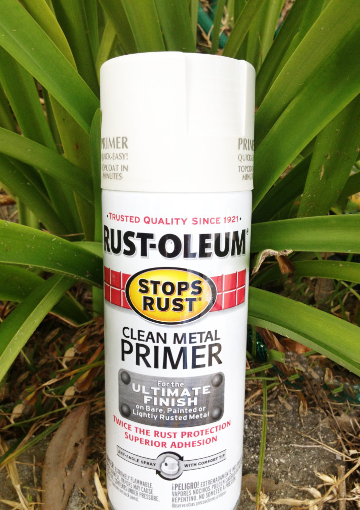 Rustolium, spray paint, primer, outdoor patio